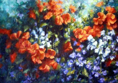 Flower Panel No 5 - 86 x 52cm