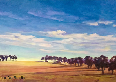 Western Districts Morning 46 x 92cm