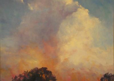 Fire Sky 60 x 75cm