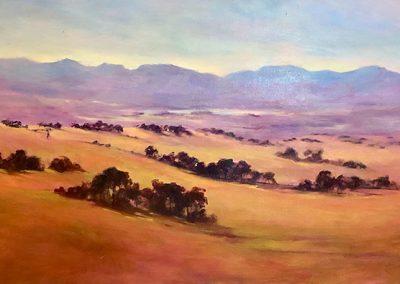 Across Victoria Valley 50 x 102cm