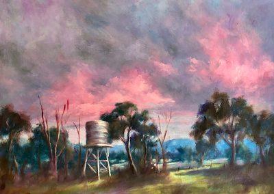 Pink Sky at Dusk 60 x 50cm